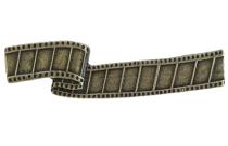 Emenee LU1242 Film Reel Cabinet Pull in Aged Brass (AGB)