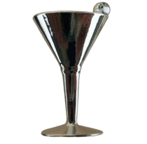 Emenee LU1255 Martini Glass Cabinet Knob in Polished Silver (POL)