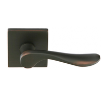 Emtek Luzern Door Lever Set with Square Rosette Oil Rubbed Bronze (US10B)