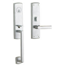 Baldwin Estate M516.ENT Soho Mortise Handleset shown in Satin Chrome (264)