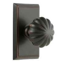 Emtek Melon Door knob with Rectangular rose Oil Rubbed Bronze (US10B)