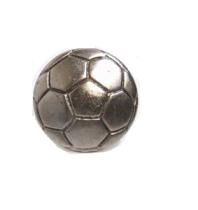 Emenee MK1042 Soccer Ball Cabinet Knob in Antique Matte Silver (AMS)
