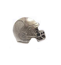 Emenee MK1044 Football Helmet Cabinet Knob in Antique Matte Silver (AMS)