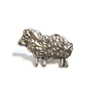 Emenee MK1069 Sheep Cabinet Knob in Antique Matte Silver (AMS)