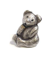 Emenee MK1070 Teddy Bear Cabinet Knob in Antique Matte Silver (AMS)