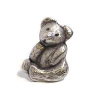 Emenee MK1070 Teddy Bear Cabinet Knob in Antique Matte Silver (AMS)