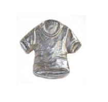 Emenee MK1115 T-Shirt Cabinet Knob in Antique Matte Silver (AMS)