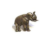 Emenee MK1151 Elephant Cabinet Knob shown in Antique Matte Brass (ABR)
