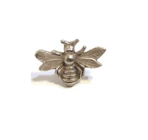 Emenee MK1152 Bee Cabinet Knob in Antique Matte Silver (AMS)
