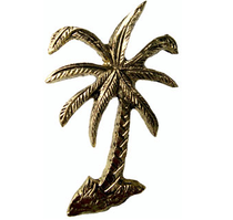 Emenee MK1223 Palm Tree Cabinet Knob in Antique Bright Brass (ABB)