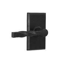 Weslock 7300N Monoghan Passage with Square Rose Black