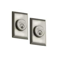 Nostalgic Warehouse New York Double Cylinder Deadbolt Satin Nickel (SN)
