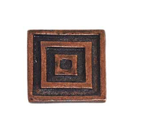 Emenee OR101 Large Square Cabinet Knob shown in Antique Matte Copper (ACO)
