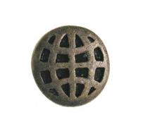 Emenee OR137 Checkerboard Circle Cabinet Knob shown in Antique Matte Brass (ABR)