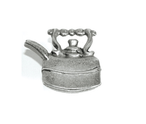 Emenee OR151 Tea Pot Cabinet Knob shown in Antique Matte Silver (AMS)