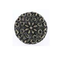 Emenee OR159 Flower Filigree Cabinet Knob shown in Antique Matte Brass