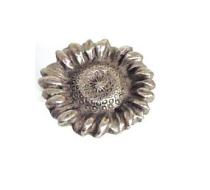 Emenee OR168 Sunflower Cabinet Knob shown in antique matte silver