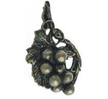 Emenee OR196 Grape Vine Cabinet Knob shown in Antique Matte Brass (ABR)