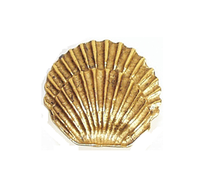 Emenee OR206 Round Sea Shell Cabinet Pull shown in Antique Bright Gold (ABG)