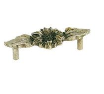 Emenee OR262 Sunflower Cabinet Pull shown in Antique Matte Silver (AMS)