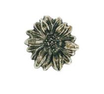 Emenee OR263 Sunflower Cabinet Knob shown in Antique Matte Silver (AMS)
