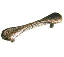 Emenee OR272 Dog Bone Cabinet Pull shown in Antique Matte Brass (ABR)