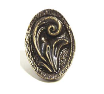 Emenee OR315 Elegant Oval Cabinet Knob shown in Antique Matte Brass