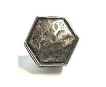 Emenee OR361 Small Hammered Ocatagon Cabinet Knob