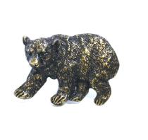 Emenee OR373 Bear Cabinet Knob in Antique Matte Brass (ABR)