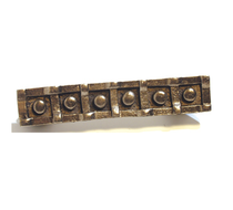 Emenee OR378 Six Button Cabinet Pull shown in Antique Matte Gold (AMG)