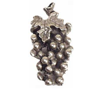Emenee PFR112 Small Grapes Cabinet Knob Antique Bright Silver (ABS)