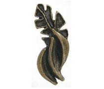 Emenee PFR113 Large Banana Cabinet Knob shown in Antique Matte Brass (ABR)