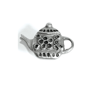 Emenee PFR115 Small Teapot Cabinet Knob shown in Antique Matte Silver (AMS)