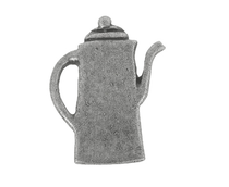 Emenee Coffee Pot Cabinet Knob shown in Antique Matte Silver (AMS)