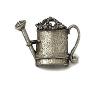 Emenee PFR126 Watering Can Cabinet Knob shown in Antique Matte Silver (AMS)