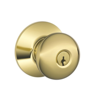 Schlage Commercial A Series Plymouth A53PD Keyed Knob in Polished Brass (605)