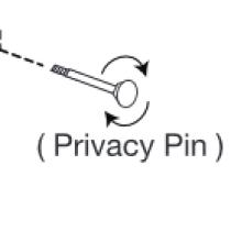 Grandeur Privacy Pin