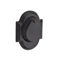 Baldwin Reserve Rustic Arch Deadbolt shown in Dark Bronze (481)