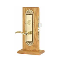 Emtek Regency Mortise Entrance Lockset with Elan Lever French Antique