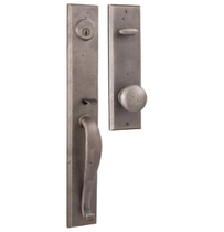 Weslock Rockford Handleset with Wexford knob Pewter