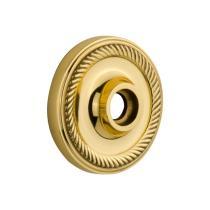 Nostalgic Warehouse Rope Rose Passage Function Polished Brass (PB)