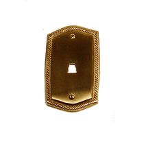 Brass Accents Rope Single Phone Plate
