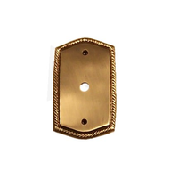 Brass Accents Rope Single TV Plate