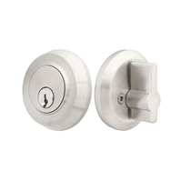 Emtek S50001 Round Single Cylinder Deadbolt Brushed Stainless Steel (SS)