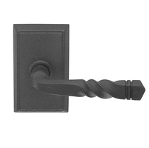 Emtek San Carlos Door Lever with #3 Rosette Flat Black (FB)