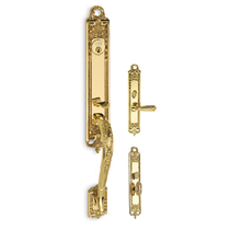 Omnia Southampton Mortise Entrance Handleset Shaded Bronze (SB)