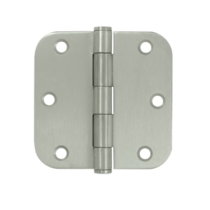 "Deltana SS35R5-R 3-1/2"" x 3-1/2"" Radius Corner Stainless Steel Hinges"