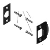 Nostalgic Warehouse Handleset Latch Strike and Faceplate Only