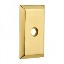 Nostalgic Warehouse Studio Short Plate Privacy Function Polished Brass (PB)