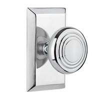 Nostalgic Warehouse Studio Plate with Deco knob Bright Chrome (BC)